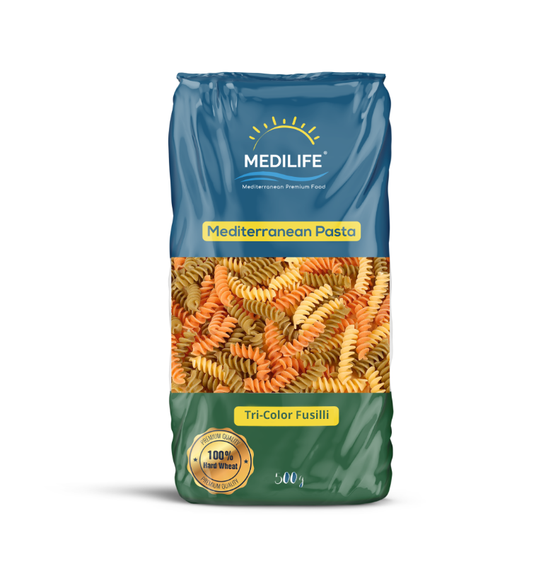 Tri-Color Fusilli