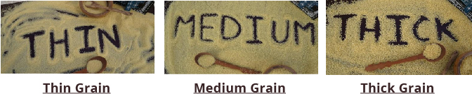 Couscous Grain thickness