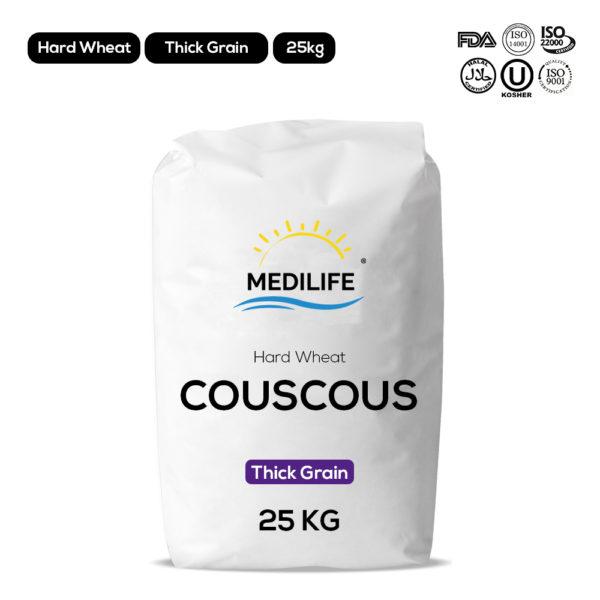Hard wheat couscous - Thick grain - 25kg
