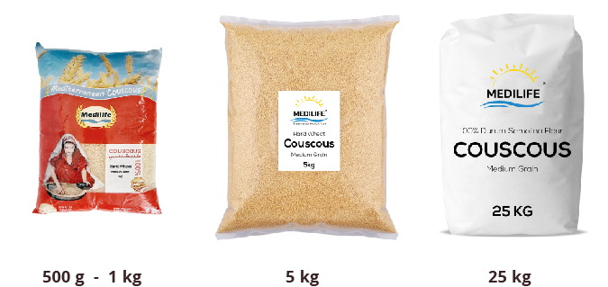 Couscous Types of packing