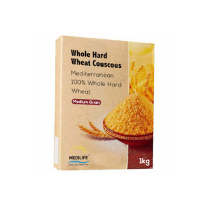 Couscous Whole Hard Wheat Medium Grain 1kg in carton packing