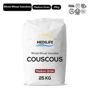 Whole Wheat Couscous 25kg Bag