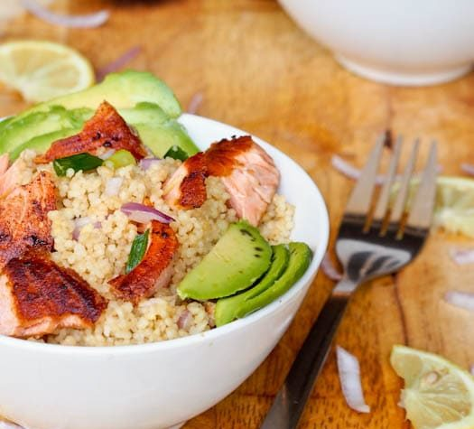 ASIAN COUSCOUS WITH SALMON