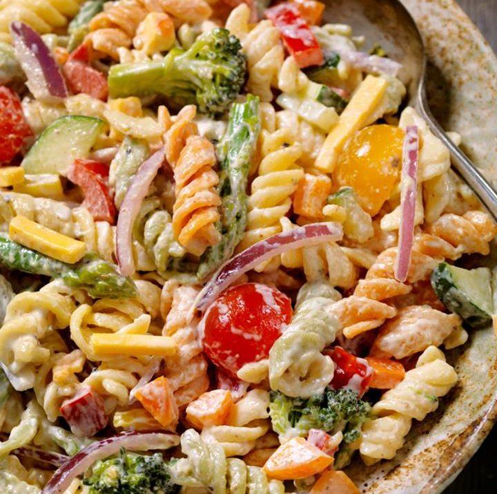 Poolside Veggie Pasta Salad
